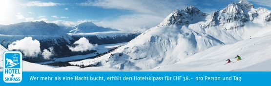 Hotel and ski pass banner German - Hotel Chesa Grischa in Sils-Baselgia