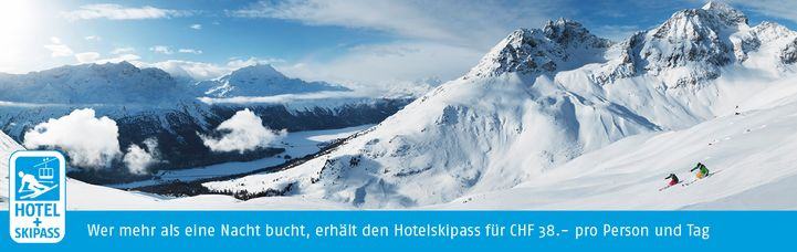 Hotel and ski pass banner German – Hotel Chesa Grischa in Sils-Baselgia