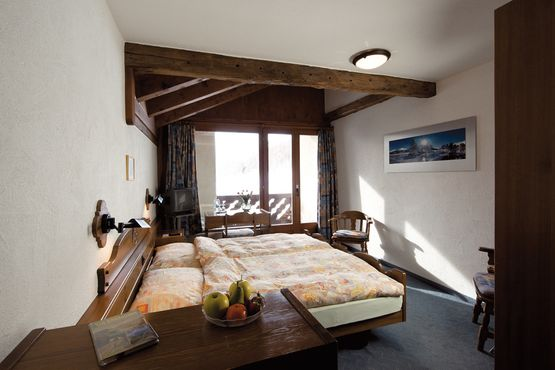 Double room with balcony Silsersee - Hotel Chesa Grischa in Sils-Baselgia